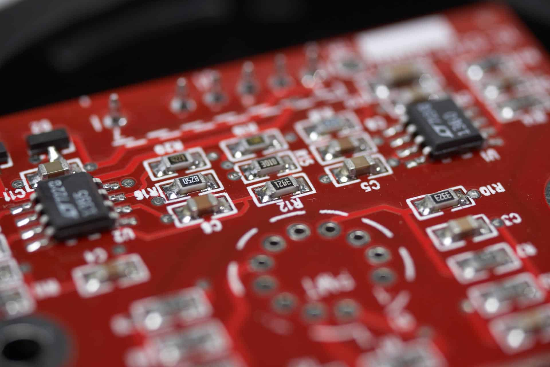 printed circuit board with SMT or surface mount technology